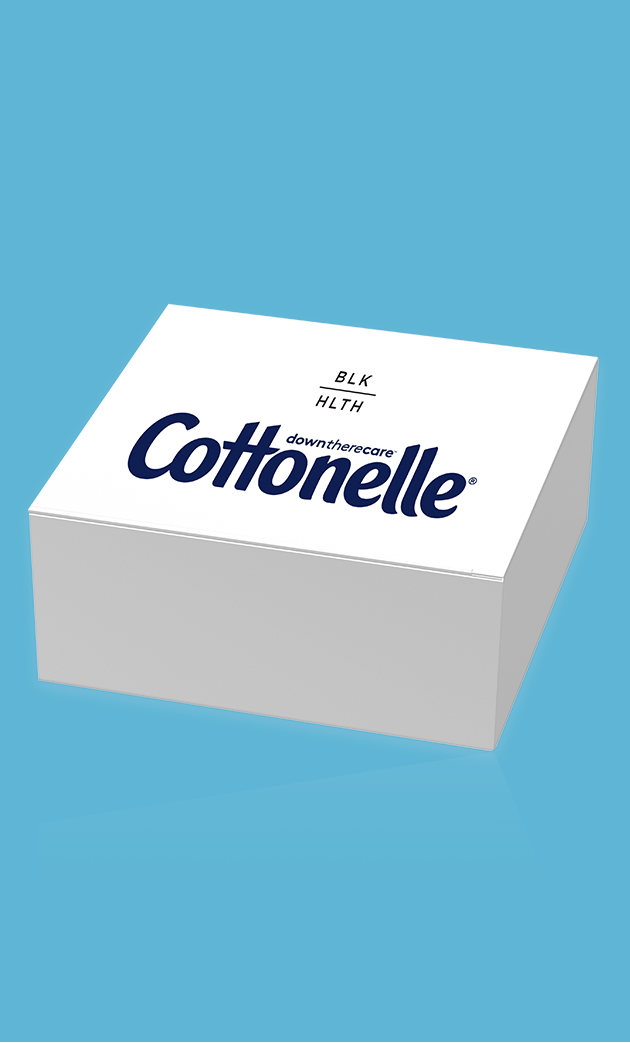 Package of Cottonelle Black Health screening kit