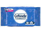 Cottonelle Flushable Wipes Peel and Reseal Soft Pack available in various pack sizes