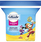 Cottonelle® Disney Flushable Wipes Refill Image.