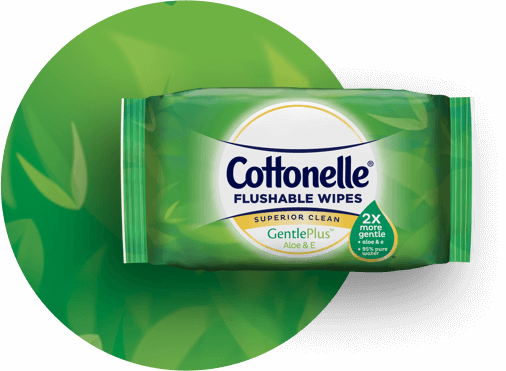 Cottonelle® GentleCare Wipes Product Hero Image.
