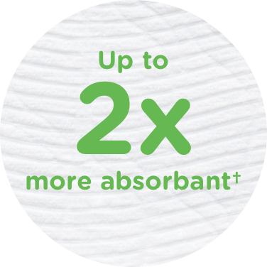 onelle® GentleCare is 2x More Absorbent Image.