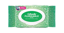 Cottonelle® GentlePlus® Flushable Wipes 84 pack.