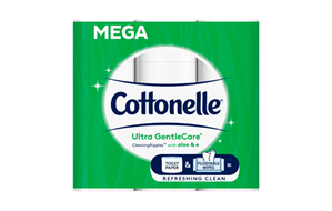 Cottonelle® Ultra GentleCare® Toilet Paper 12 pack.