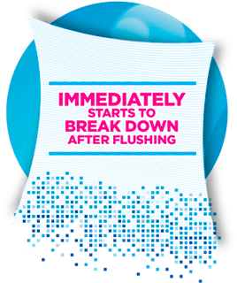 Flushability - Immediately Starts To Break Down Image