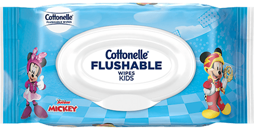 Cottonelle® Flushable Wipes With Disney